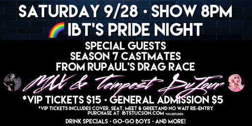 IBT's Pride Night Party - SATURDAY ONLY - 9/28 @8pm