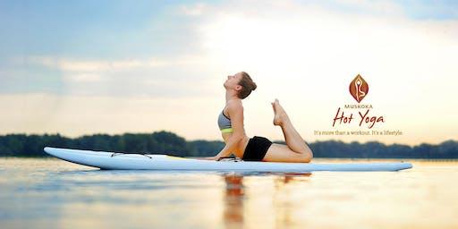 Opeongo SUP Yoga with Muskoka Hot Yoga