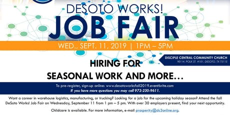 DeSoto Works Fall Job Fair 2019 tickets