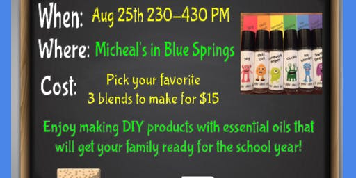 DIY Oily Back to School Ready Event