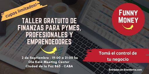 Taller gratuito de finanzas para Pymes, Profesionales y Emprendedores.
