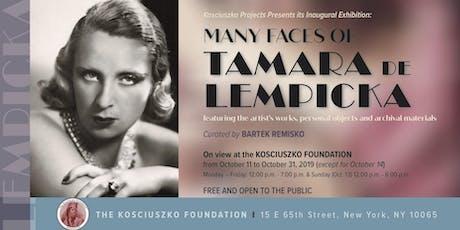 The Many faces of Tamara de Lempicka - Kosciuszko Projects Exhibition  tickets