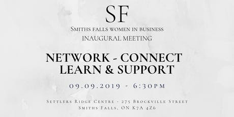 Smiths Falls Women In Business Inaugural Meeting tickets