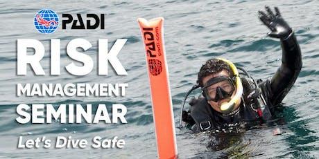 PADI Risk Management Seminar Cairns, Australia 12th of September 2019 tickets