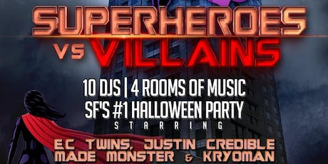 W SF Hotel Halloween - Superheroes vs. Villains tickets