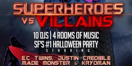 W SF Hotel Halloween - Superheroes vs. Villains
