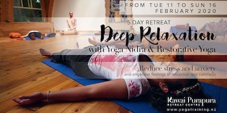 Deep relaxation with Yoga Nidra & Restorative Yoga - 5 days retreat tickets