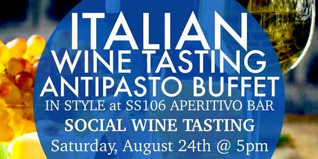Italian Wine Tasting with Antipasto Buffet tickets