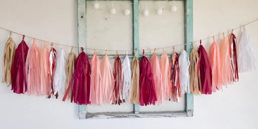 Studio Sips and Craft- Tassel Banner and Party Styling