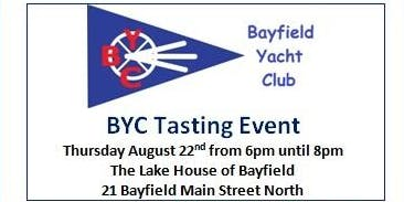 Bayfield Yacht Club Wine, Cheese, Beer & Cider Tasting Event