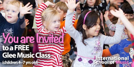 FREE TRIAL Monday, 9/9!  Glee Cubs Music Class!