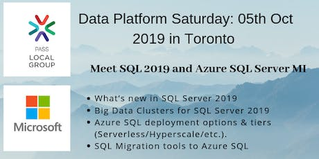 Data Platform Saturday: Meet SQL 2019 and Azure SQL Server Managed Instance @Microsoft tickets