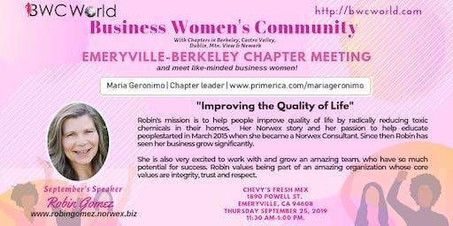 BWC Emeryville Chapter Meeting (September)