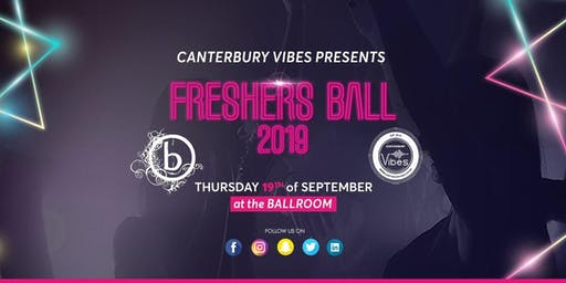 Freshers Ball 2019 Canterbury