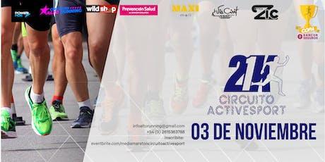 Media Maratón Circuito Activesport. 3° Fecha Circuitos Alto Running 2019 - Copa Sancor Seguros entradas