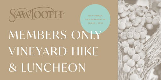 Member's Only Vineyard Hike & Luncheon
