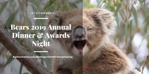 Bears 2019 Annual Dinner & Presentation Night