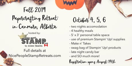 Fall 2019 Papercrafting Retreat tickets
