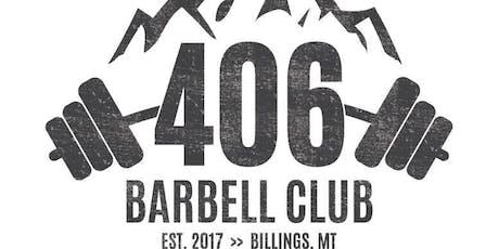 406 Barbell Open Weightlifting Meet tickets