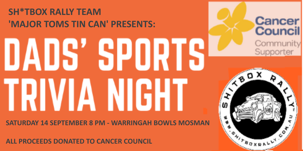 Dads' Sports Trivia Night Tickets, Sat 14/09/2019 at 8:00 pm