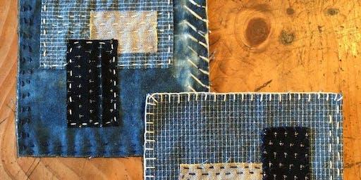 """Hand-stitched """"Boro"""" Coaster Set Workshop"""