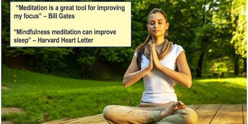 Three step introductory meditation class