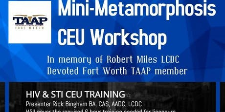 TAAP Mini-Meta CEU Workshop tickets
