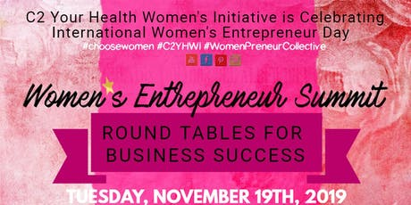 Women's Entrepreneur Summit - Indiana 2019 #C2YHWI tickets