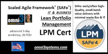 LPM-Cert-SAFe4.6--SAFe®-Lean-Portfolio-Management-MKE-24PDUs tickets
