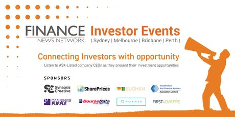 Finance News Network Investor Events - Sydney tickets