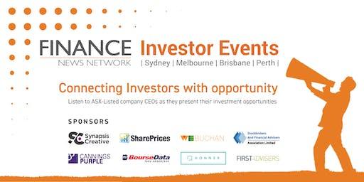 Finance News Network Investor Events - Sydney