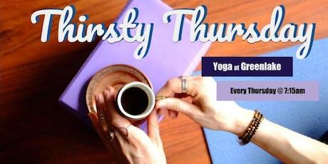 Thirsty Thursday Yoga tickets