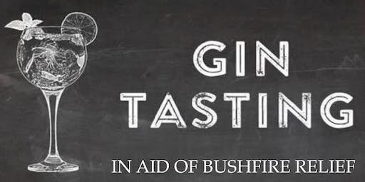 Gin Tasting in support of Bushfire relief