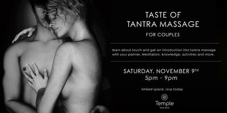 Taste of Tantra Massage for Couples Workshop tickets