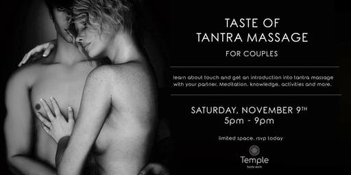 Taste of Tantra Massage for Couples Workshop