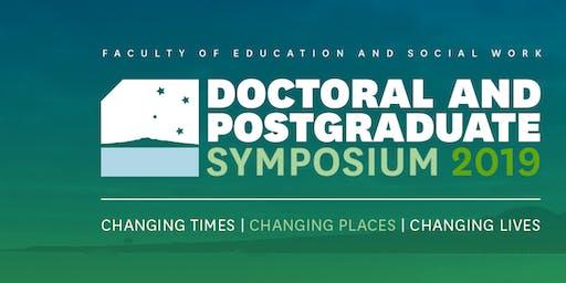 Doctoral and Postgraduate Symposium 2019