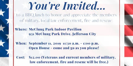 Appreciation lunch for members of military, law enforcement, fire & rescue tickets
