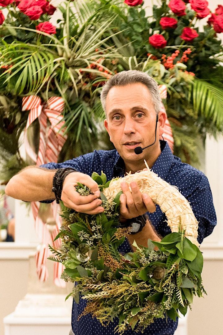 Holiday Floral Design Workshop by International Master Designer Mark Frank image