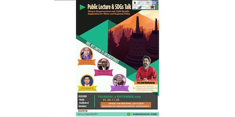 Public Lecture and SDGs Talk in Women and Child Development tickets