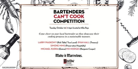Bartender's Can't Cook Competition tickets