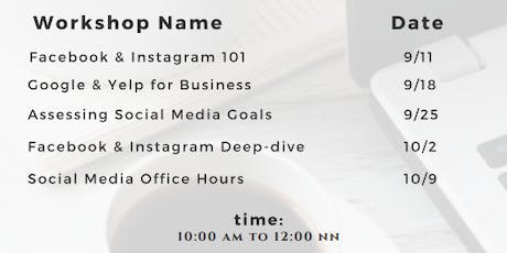 Social Media Classes for Small Business tickets