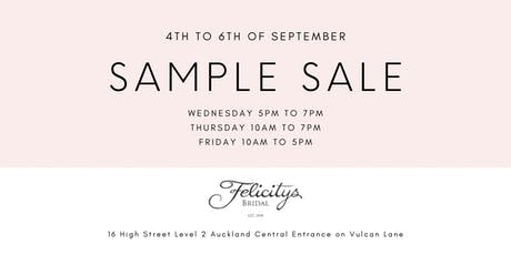 Felicitys Bridal Sample Sale tickets