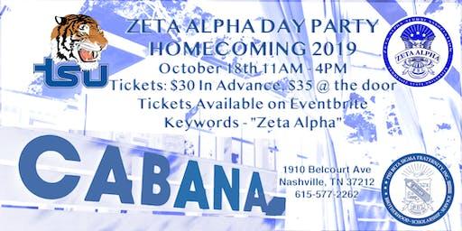 Zeta Alpha Alumni Sigma Day Party (TSU Homecoming 2019)