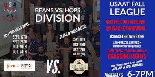 USA Axe Throwing Fall League | Java Punk VS. Peaks N Pines