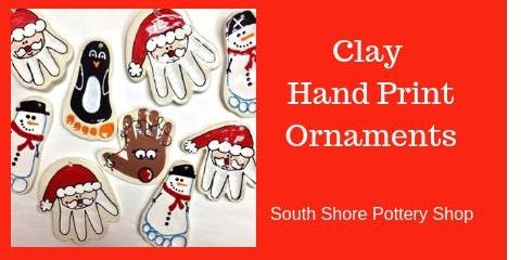 Clay Hand Print Ornament