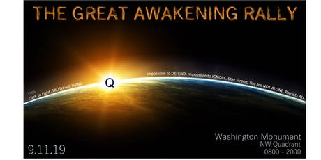 "THE GREAT AWAKENING ""Q"" RALLY tickets"