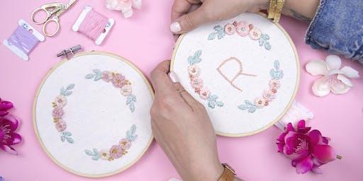 Floral Embroidery Workshop
