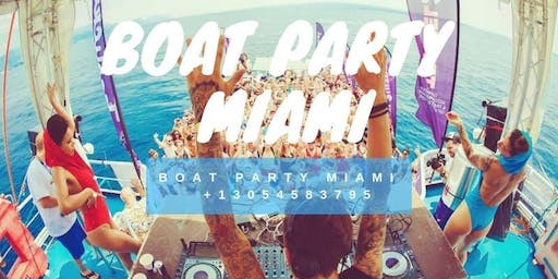 South Beach Cruise Miami Party Boat - Unlimited Drinks - Food & party bus
