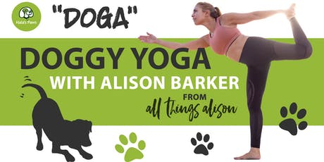 Doggy Yoga Class  with Alison Barker at Hala's Paws tickets