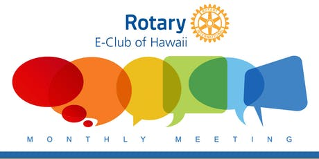 Rotary E-Club of Hawaii Monthly Meeting - August tickets